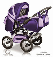 Коляска универсальная детская коляска трансформер 2 в 1 Prado фиолетовый сирень