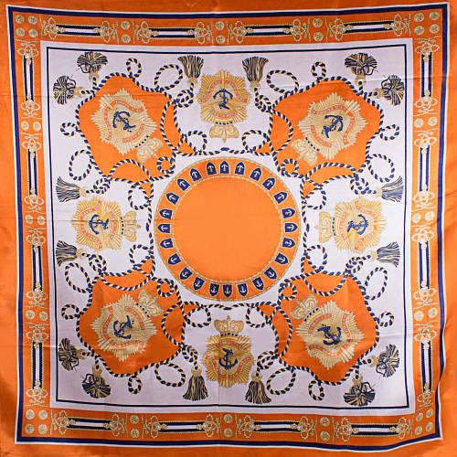 Стильный женский атласный платок размером 90*89 см ETERNO (ЭТЕРНО) ES0406-5-7