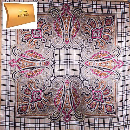Женский нежный атласный платок размером 87*89 см ETERNO (ЭТЕРНО) ES0406-5-13