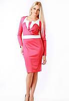 Женское коралловое платье + болеро Аурика Медини 42-44 размер