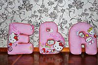 Именные подушки буквы, имя Ева, ручная работа