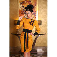 Платье женское Вика горчичное Медини 42-44размер