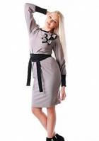 Платье женское Вика серое Медини 50-52 размер