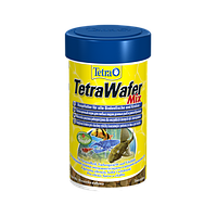 Корм для аквариумных рыб Tetra Wafer Mix 100 мл корм для травоядных, хищных и донных рыб