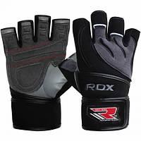 Мужские перчатки для фитнеса без пальцев из неопрена RDX черный