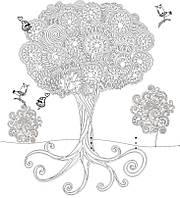 """Обои-раскраски для детей """"Дерево"""" 60х60см"""