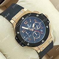 Часы мужские наручные Hublot Big Bang AAA Black/Gold/Black