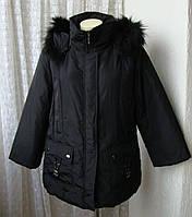 Куртка женская утепленная с капюшоном осень-зима бренд Ellen Rose р.52 4701