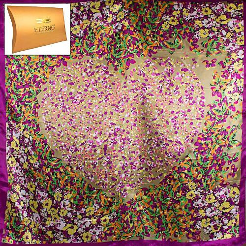 Оригинальный женский атласный платок размером 87*89 см ETERNO (ЭТЕРНО) ES0406-5-23