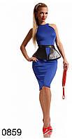 Платье с баской женское