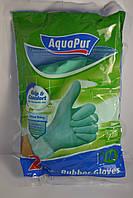 Перчатки резиновые хозяйственные AquaPur, размер L (2 пары)