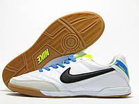 Бампы футзальные мужские Nike Tiempo белые (найк темпо)