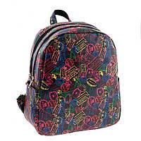Молодёжный городской рюкзак с ярким принтом.