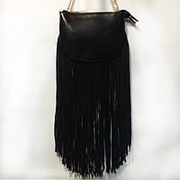 Кожаная маленькая сумочка черный и коричневый цвет Valensiy