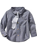 Детская рубашка с галстуком на мальчика Old Navy