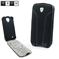 Brum Premium Кожаный чехол для Samsung Galaxy S4 i9500 (No.31 black)