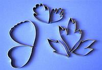 Вырубки пиона, лепестки и листья. Набор из 7 шт.