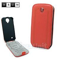 Brum Premium Кожаный чехол для Samsung Galaxy S4 i9500 (No.24 watermelon red)