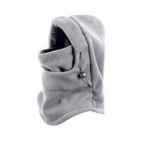 Зимняя флисовая шапка-маска - серый цвет