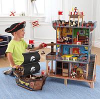 Детский игровой набор KidKraft 63284 «Пиратская крепость с кораблем»