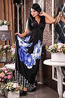 Летнее платье в пол Фантазия А2 Медини 42-44 размер