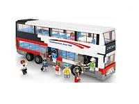 Конструктор автобус игрушечный М38-В0335, 741 элемент, открывающиеся двери