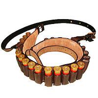 Патронташ 1-но рядный на 25 патронов с регулируемой шлеей на плечо