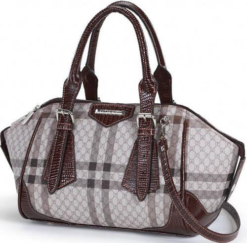 Эффектная женская сумка из искусственной кожи Dolly (Долли) 466 коричневый