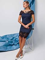 Женское кожаное Платье Канкан р. 42-50