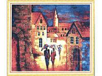"""Набор для изготовления картины со стразами """"Дождь на двоих"""" Размер: 60*52см Код 198309"""
