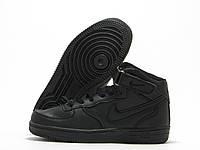 Детские кроссовки Nike Force черные (найк форс)