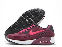 Кроссовки женские Nike Air Max бордовые (найк аир макс)