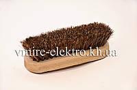 Щетка конский натуральный ворс для полировки обуви 14 см