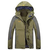 Мужская куртка 3 в 1 Jack Wolfskin XL-4XL. Теплые куртки. Верхняя одежда. Мужские модные куртки. Код: КЕ355