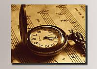 Картины Часы на нотах 68,5*54