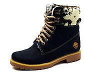 Ботинки Timberland,высокие, унисекс, нубук, на меху, фото 1