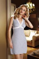 Женская ночная рубашка серого цвета из вискозы, модель Alice Eldar.