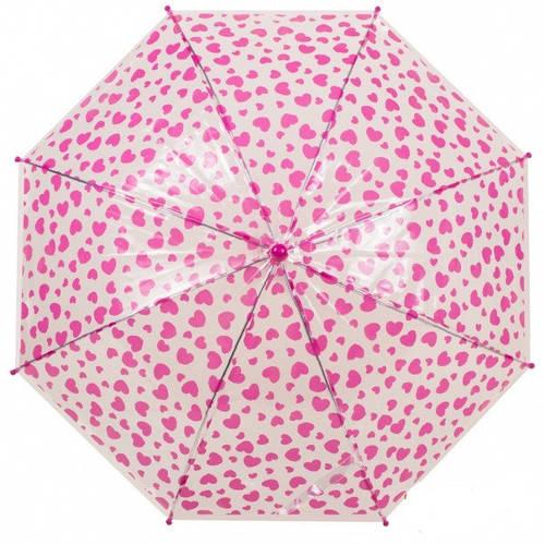 Прозрачный детский зонт-трость, механический Rainy Days, U78558-serdze, белый