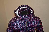 Куртка демисезон  синяя в звездочку на девочку