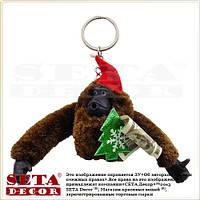 "Брелок ""Новогодний Орангутанг"" (обезьянка мягкая игрушка) (обезьяна)"