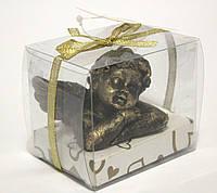 """Свеча """"Ангел"""" в подарочной упаковке бронзовая."""