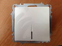 Выключатель одинарный ZENA с подсветкой модуль белый