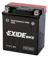 Аккумулятор мотоциклетный 6Ah 100A EXIDE ETX7L-BS = YTX7L-BS , Honda , Yamaha , Suzuki , Kawasaki , KTM