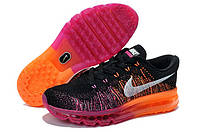 Женские кроссовки Nike Air Max 2014 Flyknit Black/Orange/White