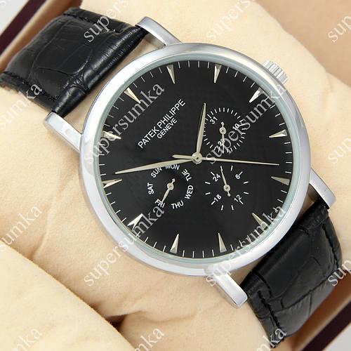 Кварцевые наручные часы Patek philippe 209g Black/Silver/Black 1019-0080