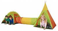 Детская игровая палатка  с тоннелем большая вигвам