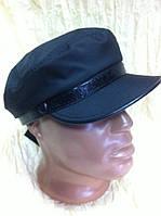 Немка мужская чёрная из плащёвки с лаковым ремешком 59