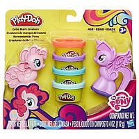 Игровой набор пластилина Play-doh знаки отличия май литл пони Твайлайт Спаркл и Пинки пай. Оригинал Hasbro