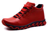 Мужские зимние ботинки Gekon Dynamique 20RTM красные кожаные, фото 1