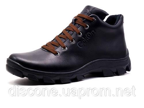 Ботинки мужские зимние на меху Gekon Grip 20BTM черные кожаные